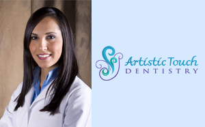 Dr. Maryam Brazdo with Artistic Touch Logo