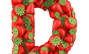 Letter D made of Strawberrys