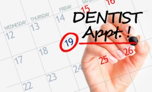 Dentist appointment date on calendar
